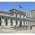 65471535 - santiago, chile - jan 25, 2015: people visit the palacio de la moneda in santiago, chile. the palace was opened in 1805 as a colonial mint, but later became the presidential palace.