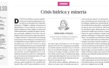 Crisis hídrica y minería