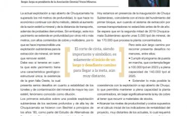 Chuqui Subterráneo: Desafiante pero necesario