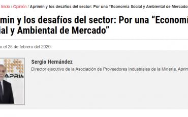 """Columna de Sergio Hernández y los desafíos del sector: Por una """"Economía Social y Ambiental de Mercado"""""""