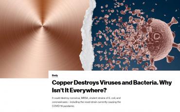 El cobre mata virus y bacterias, ¿por qué no está en todas partes?