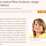 Fallo contra Mina Invierno: riesgo económico