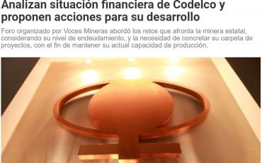 Analizan situación financiera de Codelco y proponen acciones para su desarrollo