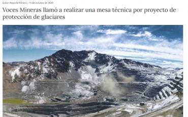 Voces Mineras llamó a realizar una mesa técnica por proyecto de protección de glaciares