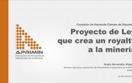 Sergio Hernández aclara a diputados que el royalty minero existe en Chile hace 16 años