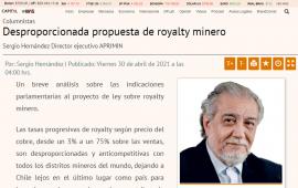 Desproporcionada propuesta de royalty minero