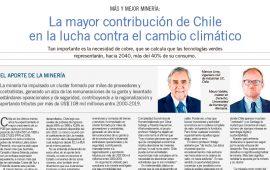 Más y Mejor Minería: La mayor contribución de Chile en la lucha contra el cambio climático